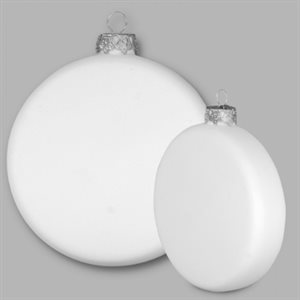 "4"" Flat Round Ornament"