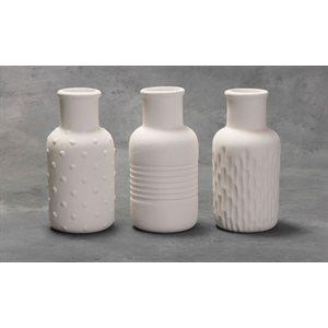 Textured Bud Vases - 3 Designs