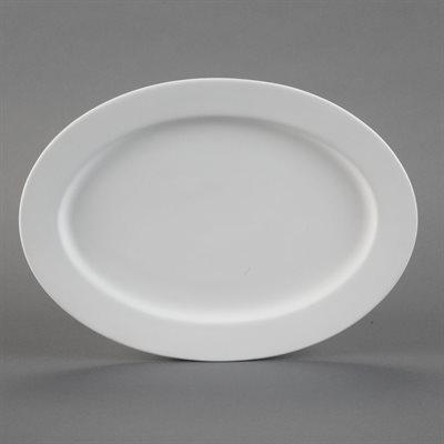 Rimmed Oval Platter