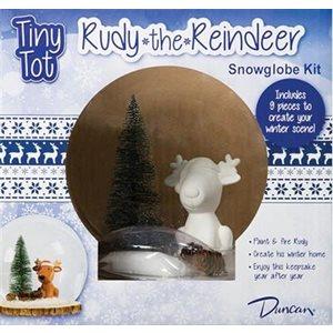 S / C Bisque - Tint Tot Rudy Reindeer Snowglobe Kit - (Cs 4