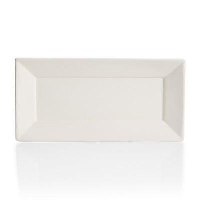 Angled Rim Rectangle Platter