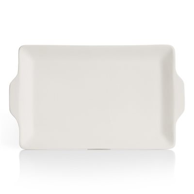 Rectangular Flat Handle Tray