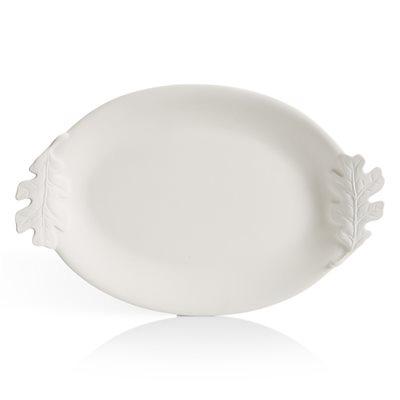 """17"""" Oval Leaf Platter"""