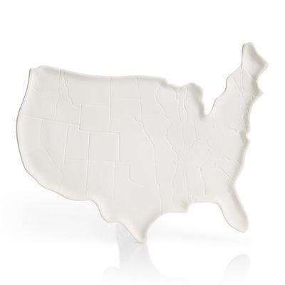 USA Map Platter